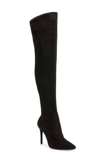 Jessica Simpson Loring Stretch Over The Knee Boot, Black