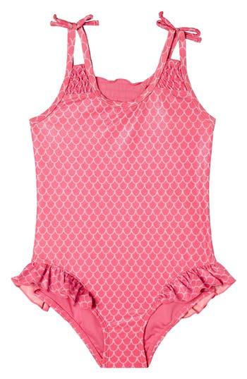 Girl's Hula Star Mermaid Princess One-Piece Swimsuit, Size 5 - Pink