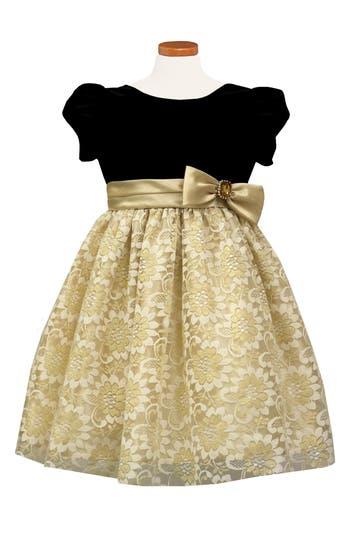 Girl's Sorbet Velvet & Lace Dress