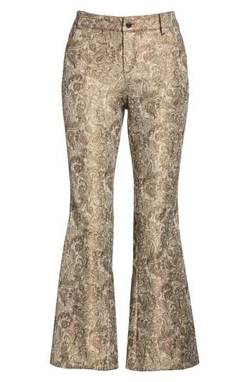 Women's Alice + Olivia Drew Metallic Crop Bell Pants