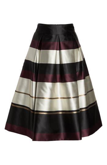 Women's Eliza J Stripe Faille Midi Skirt