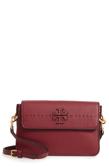 Tory Burch Mcgraw Leather Shoulder Bag - Red