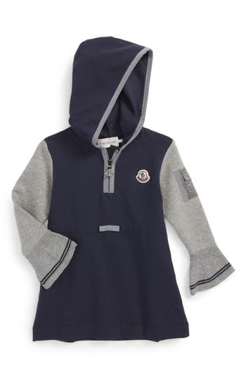Toddler Girl's Moncler Hooded Jersey Dress