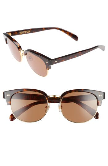 Wildfox Clubhouse 50Mm Semi-Rimless Sunglasses - Tortoise