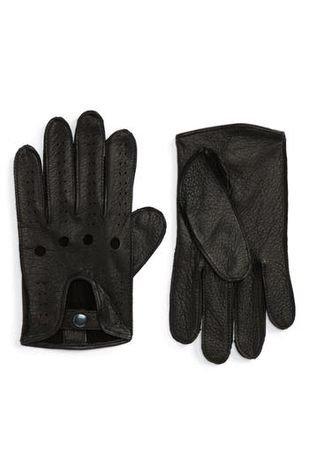 Nordstrom Shop Leather Driving Glove, Black