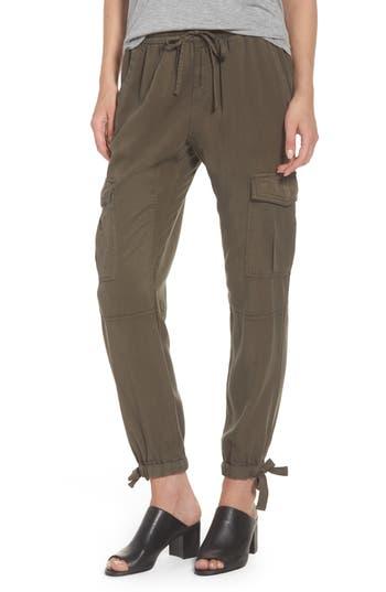 PAM & GELA Ankle Tie Tencel Pants in Loden