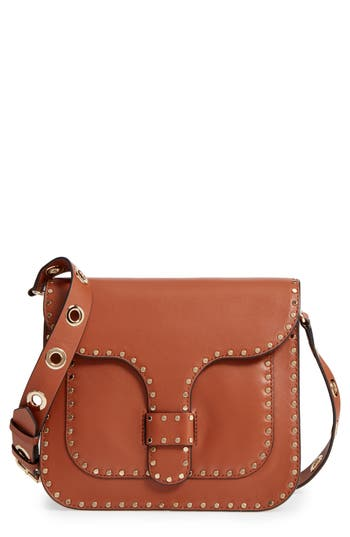 Rebecca Minkoff Large Midnighter Leather Crossbody Bag - Brown