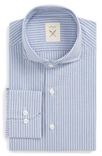 Men's Strong Suit Extra Trim Fit Stripe Dress Shirt