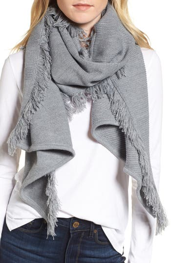 Women's Rebecca Minkoff Garter Stripe Stitch Blanket Scarf, Size One Size - Grey