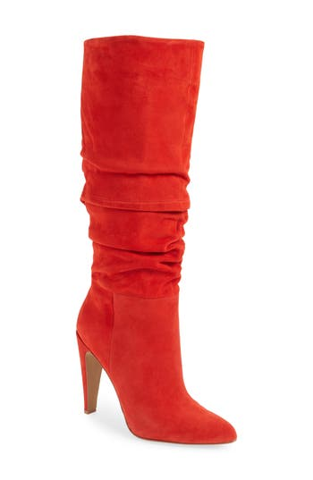Retro Boots, Granny Boots, 70s Boots Womens Steve Madden Carrie Slouchy Boot Size 9.5 M - Red $169.95 AT vintagedancer.com