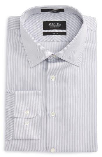 Men's Big & Tall Nordstrom Men's Shop Trim Fit Stripe Dress Shirt