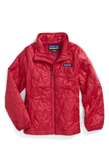 Girl's Patagonia Nano Puff Quilted Water Resistant Jacket