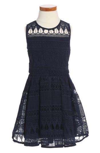 Girl's Bardot Junior Linear Lace Dress