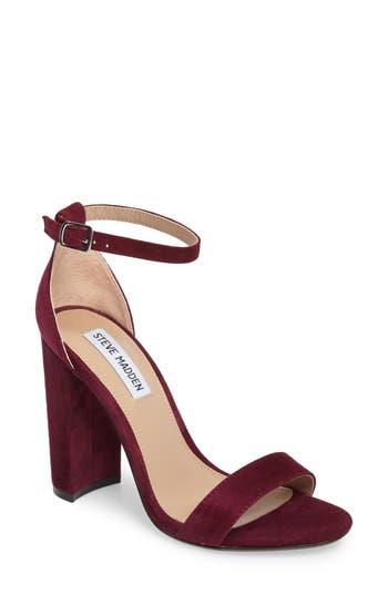 Women's Steve Madden Carrson Sandal, Size 8.5 M - Burgundy