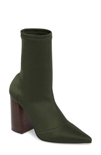 Steve Madden Lombard Pointy Toe Sock Bootie, Green