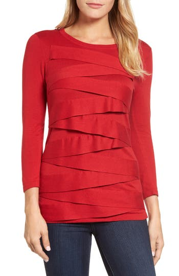 Women's Vince Camuto Zigzag Sweater, Size X-Small - Red