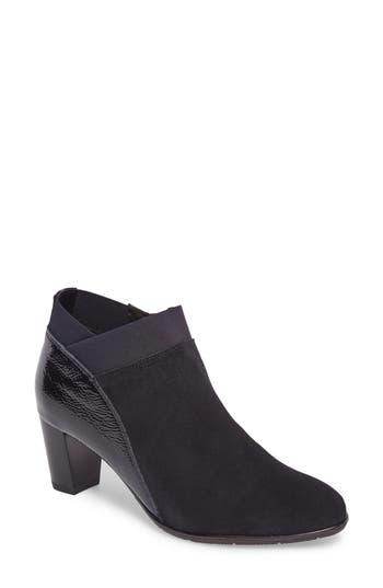 Women's Ara 'Torrence' Almond Toe Zip Bootie, Size 7.5 M - Blue