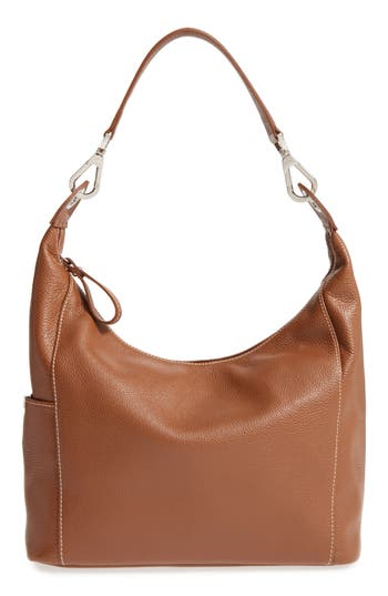 Longchamp 'Le Foulonne' Leather Hobo Bag - Brown