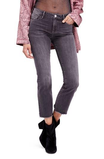 Women's Free People Crop Straight Leg Jeans