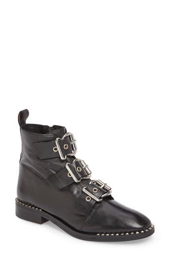 Topshop Alfie Buckle Ankle Boot - Black