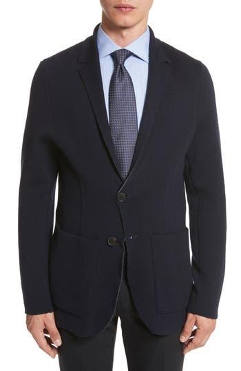 Men's Canali Reversible Knit Wool Blazer