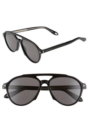 Givenchy 5m Polarized Aviator Sunglasses - Black