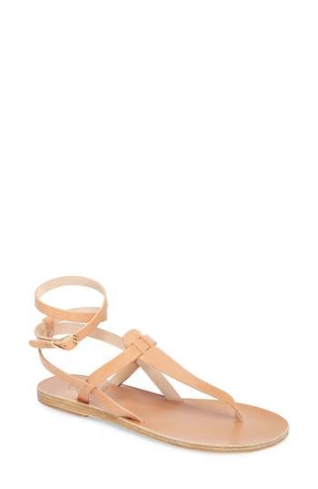 Women's Ancient Greek Sandals Estia Ankle Wrap Sandal, Size 11US / 41EU - Beige