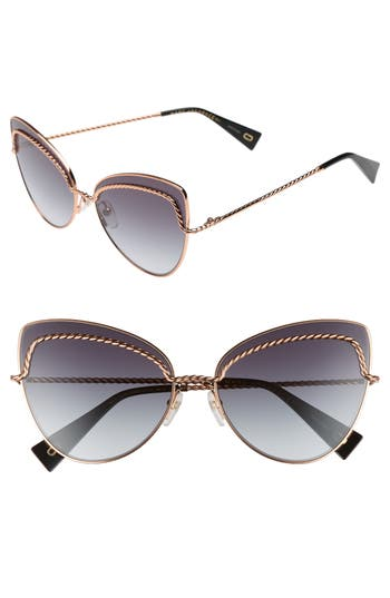 Women's Marc Jacobs 61Mm Butterfly Sunglasses - Gold Copper