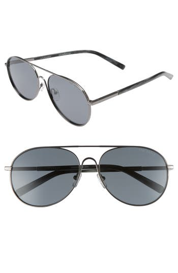22ee1be5b26 Ted Baker 59Mm Aviator Sunglasses - Gunmetal