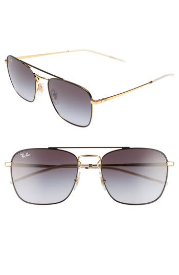 Ray-Ban Youngster Double Bridge 55Mm Sunglasses - Black/ Gold