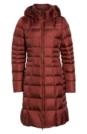 Women's The North Face 'Metropolis Ii' Hooded Water Resistant Down Parka, Size Small - Red