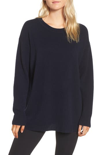 Women's James Perse Oversize Cashmere Sweater, Size 0 - Blue