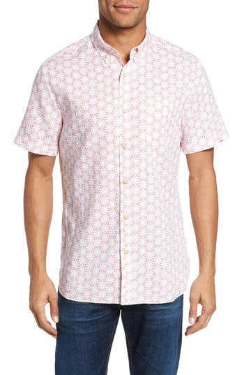 Men's Surfside Supply Gradient Flower Linen Sport Shirt