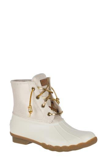 Sperry Saltwater Rain Boot- Ivory