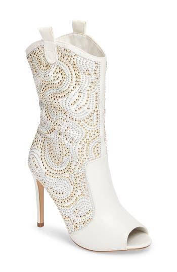 Lauren Lorraine Layla Embellished Boot- Metallic