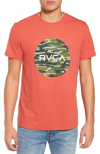 Men's Rvca Water Camo Motors Graphic T-Shirt, Size Small - Red