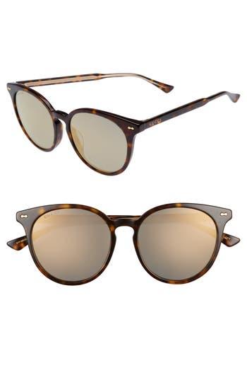 Gucci 55Mm Round Cat Eye Sunglasses - Havana