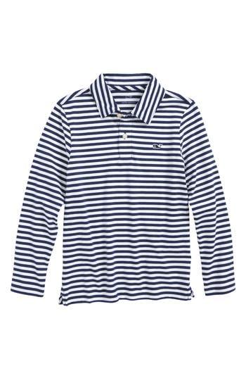 Boy's Vineyard Vines Stripe Pima Cotton Jersey Polo
