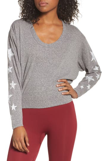 Free People Melrose Star Graphic Top, Grey