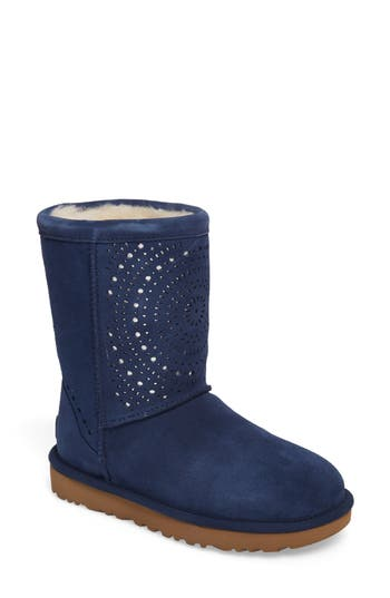 Ugg Classic Short Sunshine Perforated Boot, Blue