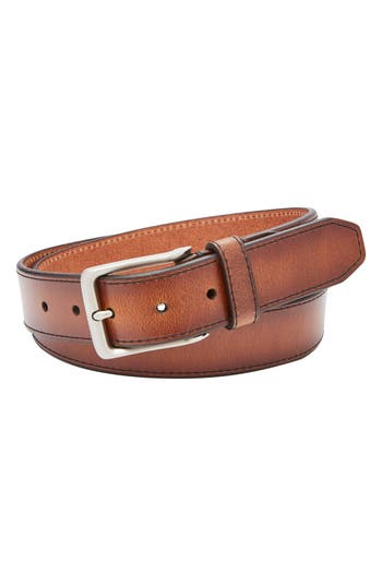 Fossil Griffin Leather Belt, Cognac