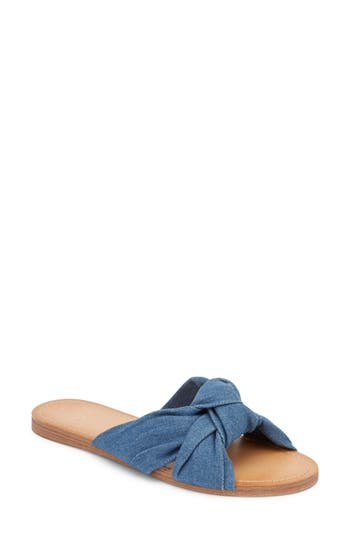 G.h. Bass & Co. Sophie Knotted Bow Sandal- Blue