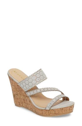 Women's Athena Alexander Aerin Embellished Wedge Sandal, Size 5 M - Grey