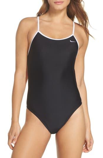 Nike Crossback Cutout One-Piece Swimsuit, Black