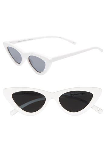 Le Specs X Adam Selman Last Lolita 4m Cat Eye Sunglasses - White