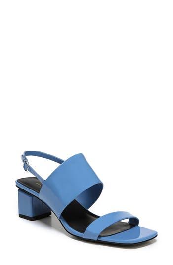 Women's Via Spiga Forte Block Heel Sandal, Size 4.5 M - Blue