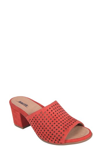 Earth Ibiza Perforated Sandal, Coral