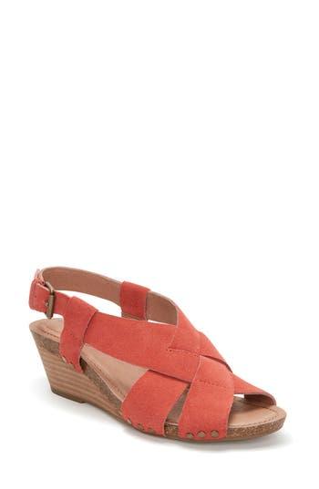 Women's Adam Tucker Tarin Wedge Sandal, Size 8.5 M - Orange
