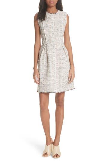 Rebecca Taylor Rainbow Tweed A-Line Dress
