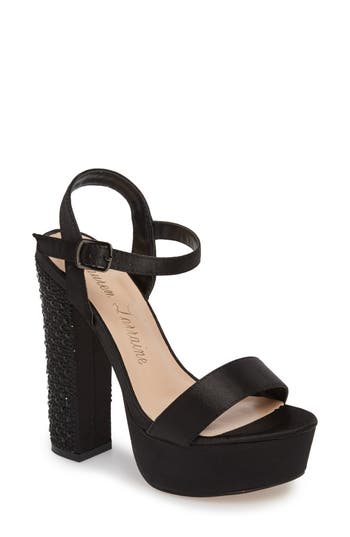 Women's Lauren Lorraine Carly Platform Sandal, Size 6 M - Black